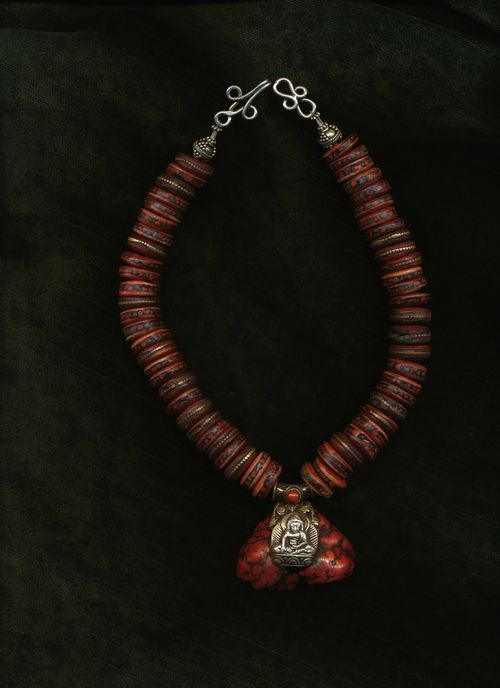 Tibetan Prayer Beads with Buddha
